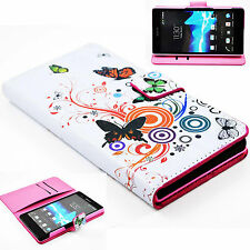 New Fold Wallet Hard Leather Pouch Case Cover For Sony Ericsson Xperia Z L36H