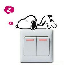 FD840 Cartoon Dog Style Light Switch Funny Wall Decal Vinyl Stickers DIY ~1pc~