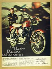 1969 Harley-Davidson SPORTSTER Motorcycle color photo vintage print Ad