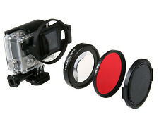 Macro 16X Close Up Lens Diving Red Filter Ring For Gopro Hero 4 3+ Sport Camera