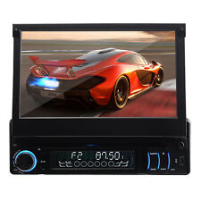 "7""Single Detachable 1 Din Car DVD Player Nav Radio Bluetooth Stereo"