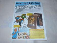 TINTIN - HERGE !!!!3!!!!!!!!!!!!!!!!!!!RARE PUBLICITE