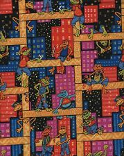 Frogs Quilt Fabric - Construction Worker Frogs - Blank Textiles - OOP - BTHY
