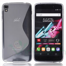 Custodia cover WAVE Bianco in TPU trasparente per Alcatel One Touch Idol 3 4.7""