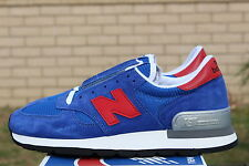 NEW BALANCE 990 SZ 12 BLUE RED GREY M990SB NB MADE IN THE USA NATIONAL PARKS