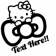 Hello Kitty Custom Vinyl Sticker,Decal for Cars,Windows,Laptops and more.