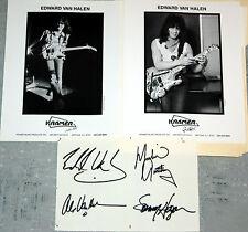 2 Edward Eddie Van Halen head shot 1 Sammy Hagar Litho Authographs Kramer Guitar