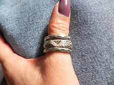 Emporio Armani~Sterling Silver .925 Hammered Stackable RINGS size 8