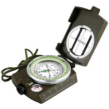 Pocket Military Army Geology Metal Compass Military Green Color New