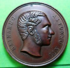 Alfonso XII 1877 Medal ,Vinicola national exhibition (Perfection) aUNC