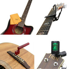 IRIN Guitar Accessories 4-Piece Set Cleaning Cloth Capo String Tightener Tuner