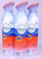 3 Cans Febreze Air Effects With Tide Original Scent Air Freshener Room Spray