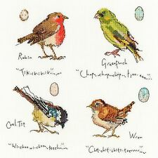 BOTHY THREADS GARDEN BIRDS 1 ROBIN WREN GREENFINCH CROSS STITCH KIT - NEW