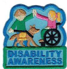 Girl Boy Cub DISABILITY AWARENESS Education Blue Patches Crest Badge SCOUT GUIDE