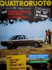 Quattroruote 262 1977 Diesel la nuova Ford Granada. La Beta piace. Giulietta Q94