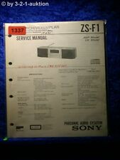 Sony Service Manual ZS F1 Personal Audio System (#1337)