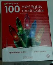 BRAND NEW IN BOX Holiday Time 100 Mini Light Set, Multi-Color, Indoor/Outdoor