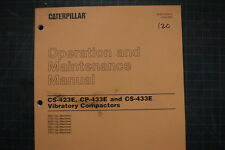 CAT Caterpillar CS/CP-423E 433E Roller Operation Operator Maintenance Manual OEM