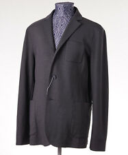 New Z ZEGNA Unstructured Gray-Black Knit Jersey Blazer Slim US 48 R Sport Coat