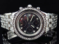 Custom Mens Breitling Chronomat Aeromarine 41 MM Genuine Diamond Watch 9.5 Ct