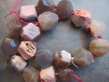 Pink Stripe Agate Nuggets Faceted Beads 18pcs
