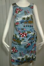 Women's Hilo Hattie  Dress  Hawaiian ALOHA Hulu Girls Beach Wrap Tropical Sz S