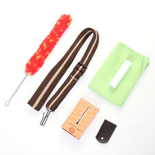 Saxophone Flute Clarinet Accessory Kit Strap Reed Clean Cloth Brush Cork Grease