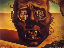 Salvador Dali The Face Of War Fabric Art Cloth Poster 17inch x 13inch Decor 2