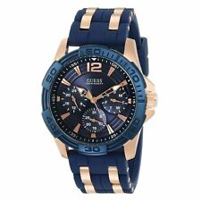 Guess U0366G4 Men's Iconic Signature Blue Dial Day Date Watch