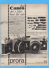 QUATTROR966-PUBBLICITA'/ADVERTISING-1966- CANON FX / FP
