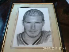 manchester united david beckham artist pencel drawing by jonathan wood 55 X 45cm