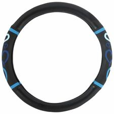 New Blue Hearts Car Truck Synthetic Leather Steering Wheel Cover