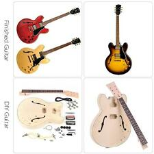 ES-335 Unfinished DIY Electric Guitar Kit Semi Hollow Basswood Body Q8H1