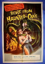 """BEAST FROM HAUNTED CAVE MOVIE POSTER 1 ONE SHEET 27"""" X 41"""" 1959 NEAR MINT 9.4"""