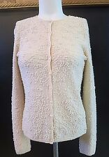 BELFORD  SAKS FIFTH AVENUE  CASHMERE  BEADED PEARLS CARDIGAN SWEATER SZ XS