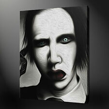 "MARILYN MANSON CANVAS WALL ART PICTURES PRINTS 20""x30"" FREE UK P&P"