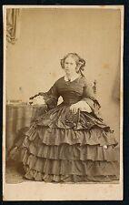 CDV c. 1865 - Femme Jolie Robe Ph. Faedo à Genève - T877