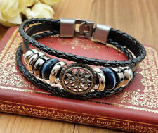 Jewelry Fashion Men's Women Charm Leather Bracelet Bangle Cuff Punk Style NEW