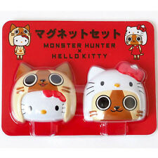 Monster Hunter x Hello Kitty Magnet - Complete set of 2 - Japan KAWAII