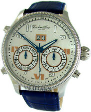 Thunderbirds señores Laco Automatic Day date month ø43 piloto watch Seagull