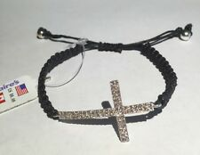 Claire's Side Cross Charm Bracelet New With Tags