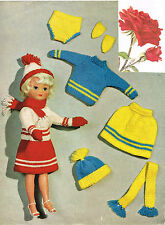 "Dolls clothes knitting pattern.10-12"" and 14""-16""teenage doll. (V Doll 93)"
