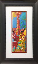 "LeRoy Neiman ""Dr. J & Kareem"" Custom FRAMED ART Basketball Erving 76ers Lakers"