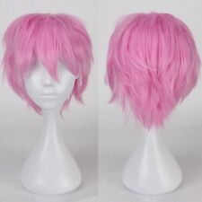 Unisex Short Full Wig Cosplay Party Fancy Dress Real Thick 100% Brand New Red BF