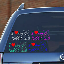 I LOVE MY RABBIT - Vinyl Decal - Fun, Toy, Cage, Food, Snack, Guinea Pig