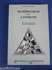 Mathématiques dans l'antiquité Guillaumin Centre Jean Palerne Uni. St Etienne