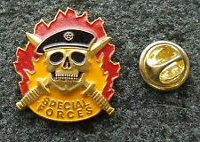 Russian Special Forces SPETSNAZ Badge SKULL BLACK   BERET badge pin HEAVY