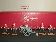 BRITAINS 40397 ZULU WAR BRITISH 24TH FOOT + GATLING GUN TOY SOLDIER FIGURE SET