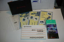 01 2001 TOYOTA HIGHLANDER OWNERS MANUAL USERS GUIDE OWNER USER BOOKLET