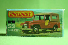 Modellauto - Matchbox - Superfast - Nr. 53 CJ 6 Jeep - OVP